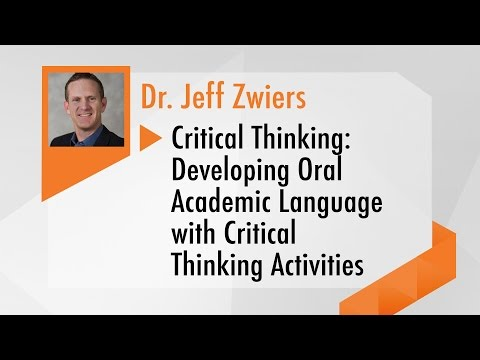 Developing Oral Academic Language with Critical Thinking Act