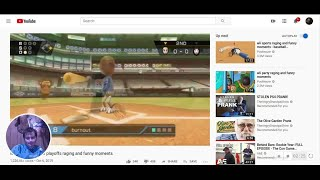 i react to  wii sports baseball playoffs raging and funny moments