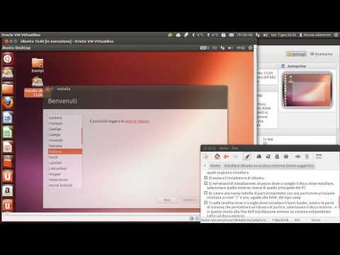 Installare Ubuntu su un disco esterno (tema suggerito)