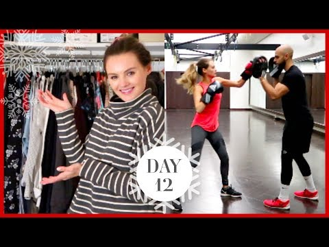 WARDROBE CLEAROUT & BOXING WORKOUT | Vlogmas #12