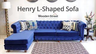 L - Shape Sofa Design For Living Room 2020 | Best Corner Sofa Set Design - Wooden Street