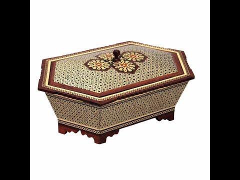 Jewelry Box Wood Khatam Art handmade Persian Crafts