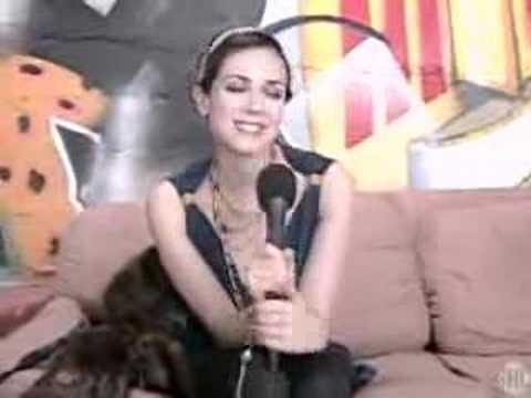 The L Word's Mia Kirshner interviewing herself