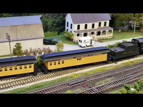 Steam Excursion Train Ride Tour w/ Rail Fan Views - HO Scale Model Railroad Layout 1080p Part 1 of 2