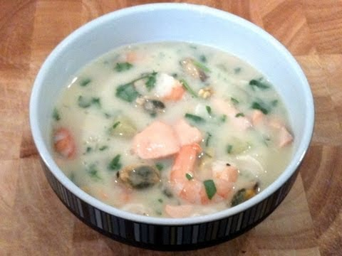 Cheats' Seafood Chowder Cook-Along Video Part 1