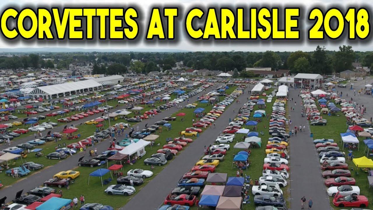 Corvettes At Carlisle After Movie The LARGEST Corvette - Carlisle pa car show 2018