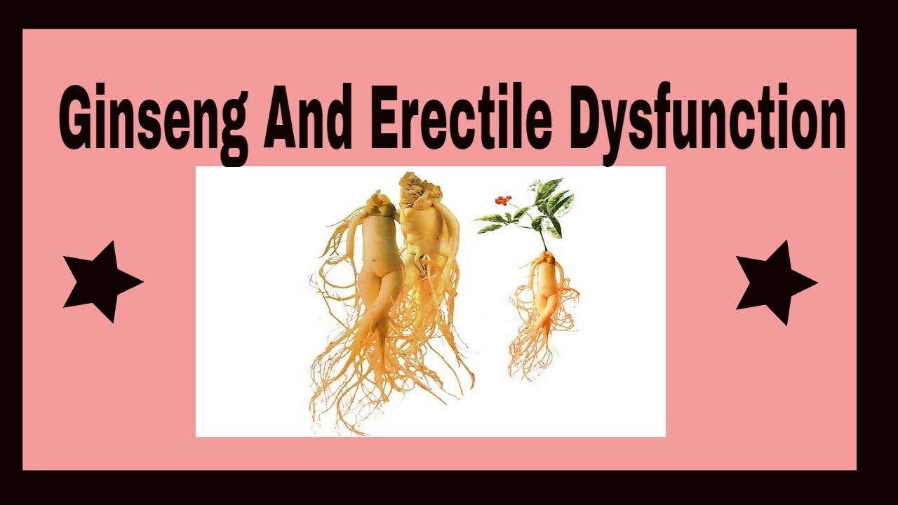 korean ginseng erectile dysfunction