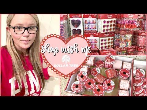 Dollar Tree Shop With Me 2018  Haul & Valentine's Decor