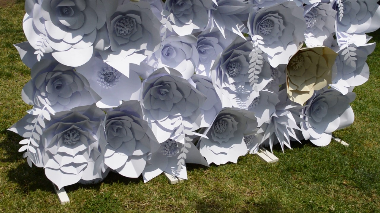 Mural de flores de papel youtube for Mural 7 de setembro