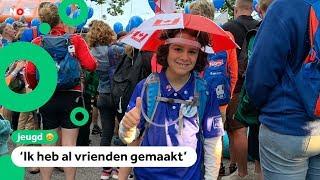Xavier (11) komt uit Canada om de Vierdaagse te lopen