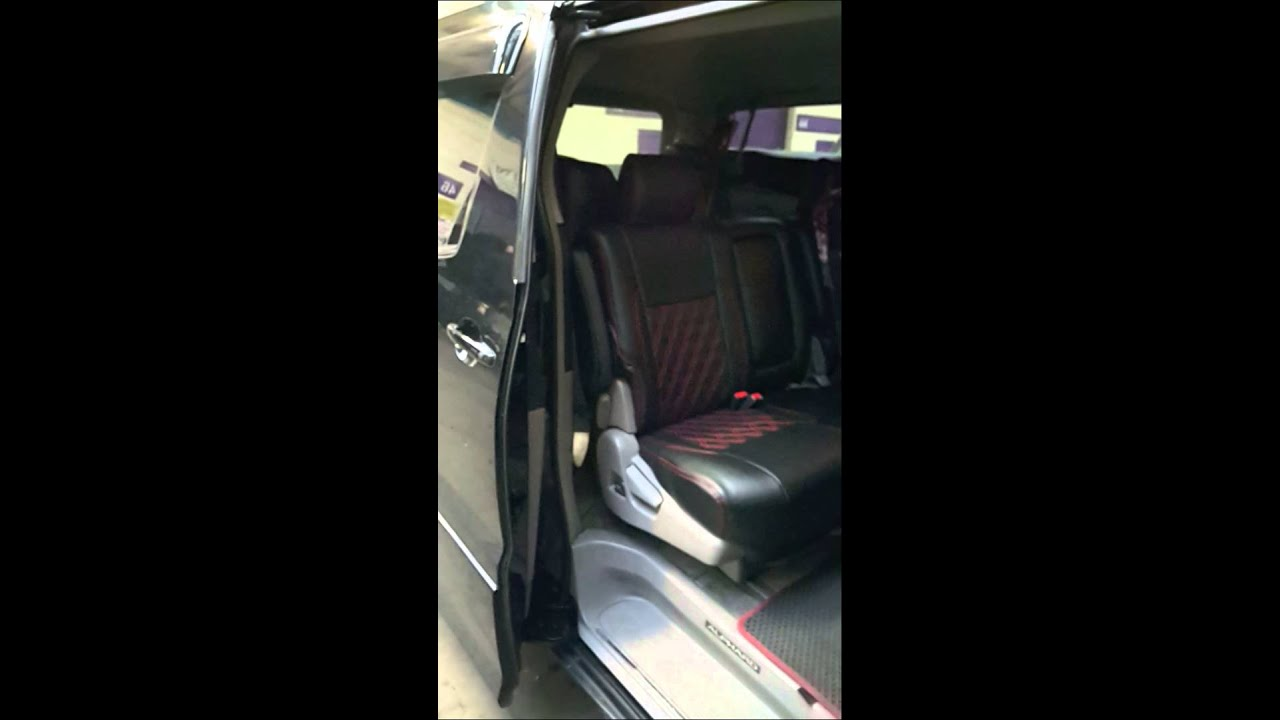 Toyota Alphard Power Sliding Door One Touch Switch Youtube
