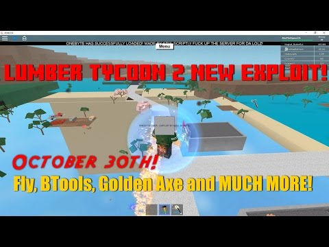 New Lumber Tycoon 2 EXPLOIT | BTOOLS, FLY, BETA-AXE, AND MORE! (October 30th)