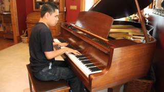 """SOUND OF SILENCE"" - Simon and Garfunkel piano cover played by blind piano prodigy Kuha"