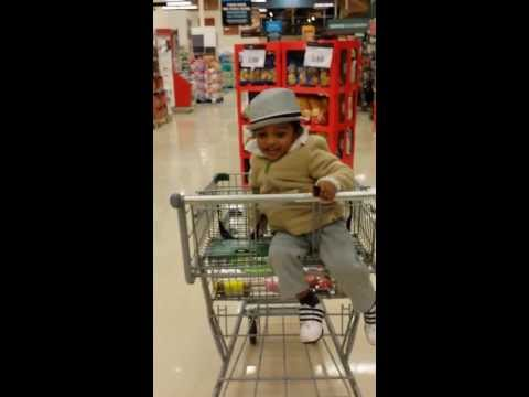 Shopping cart fun with Athesh!