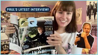 Paul McCartney's British GQ Interview (Magazine Lookthrough)