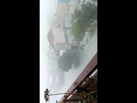 VIDEO: El fuerte temporal de granizo y lluvia que azotó a una ciudad de Córdoba