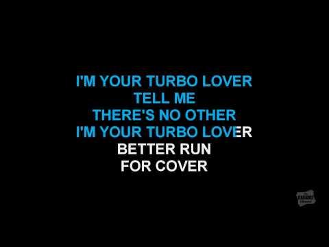 Turbo Lover in the style of Judas Priest karaoke video