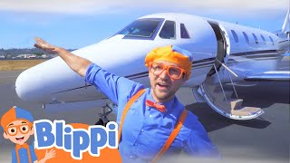 Blippi Explores a Private Jet | Airplanes For Kids | Educational Videos For Kids