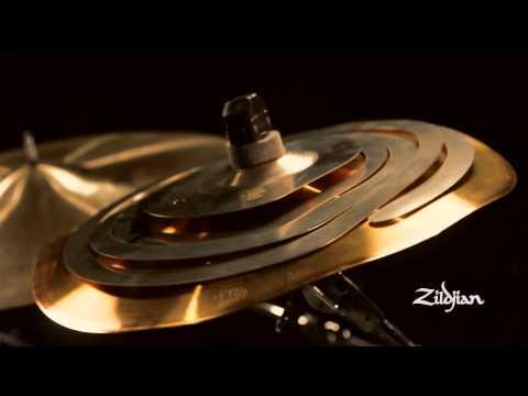 "Zildjian Cymbal Stacking - 12"" Spiral Stacker over a 14"" FX Trashformer"