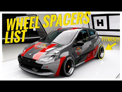 Forza Horizon 4 |All Cars with Wheel Spacer Option (Adjustable Track Width / Wheel Offset List) thumbnail