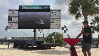 Daily Video Debrief on the Jumbotron for J70 Class by Ed Baird, courtesy of Quantum Sails
