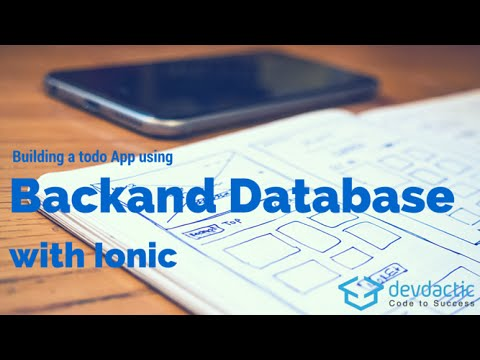 Building an Ionic Todo App with Backend and Database using Backand