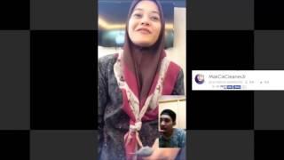Nono Live Sungguhan Di Buke!! MakCikCleanerJr 3 - Pake Kerudung Manis Nye Senyum Nye Bigo Malesya