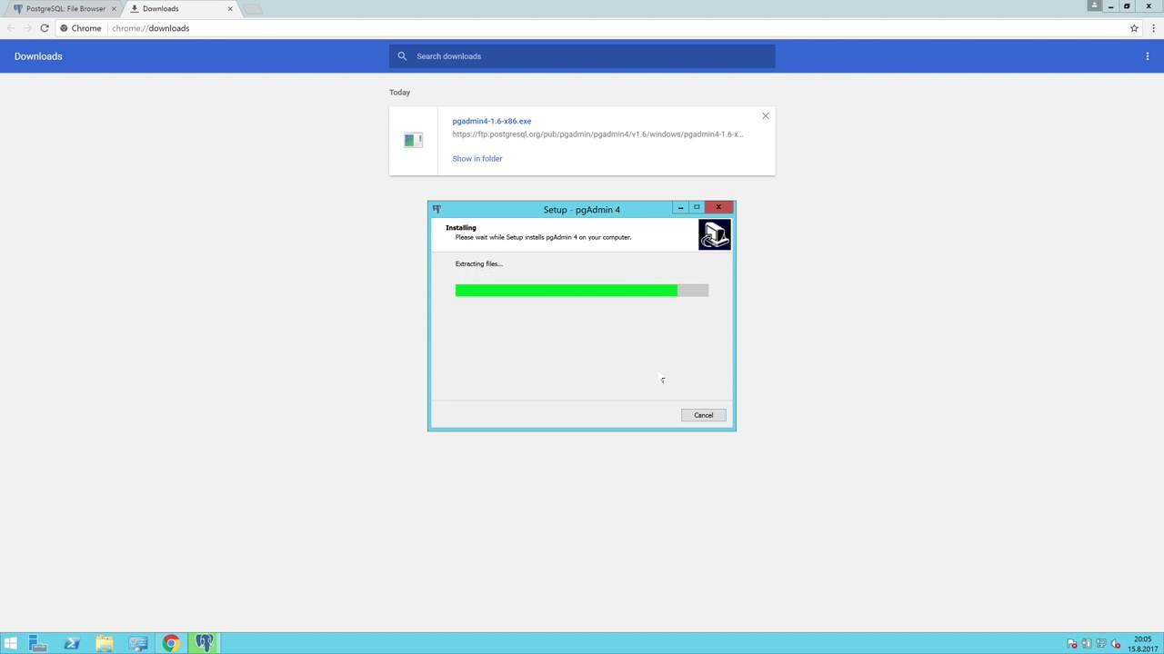 PostgreSQL Kurulumu - Windows Server 2012 R2