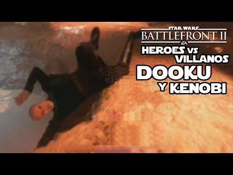 Héroes contra villanos Dooku y Obi wan - Star wars Battlefront 2 En español thumbnail