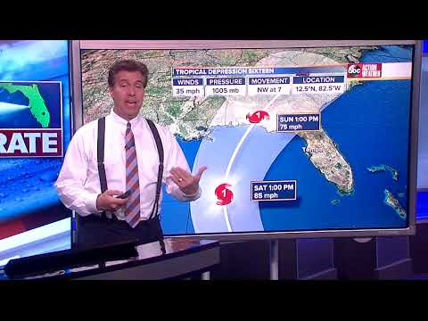 Tropical Depression 16 Forecast with Denis Phillips on Wednesday, October 4, 2017 (7PM)