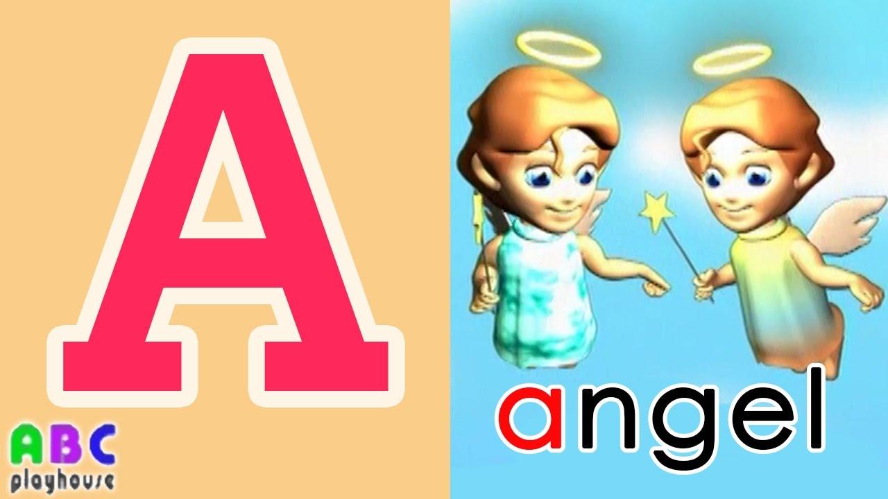 【中英字幕】ABC教學 第3集 Angel|單字A-Z|YOYO|ABC Playhouse|兒童英文教學Learning English For Kids - YouTube