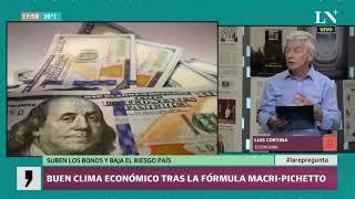 Macri-Pichetto: Baja el riesgo país y suben los bonos tras la fórmula
