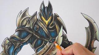 วาด Nakroth Demonic Skin จากเกม ROV | วาดเล่น เป็นการ์ตูน