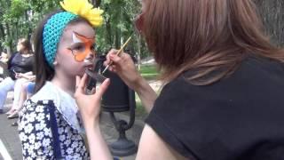 Лиса. Рисунок на лице - Фейс-арт (Face art).(Лиса. Рисунок на лице - Фейс-арт (Face art). Лиса Алия. Рисунок на лице красками. Фейс-арт (Face art) в парке Горького...., 2016-06-22T04:33:14.000Z)