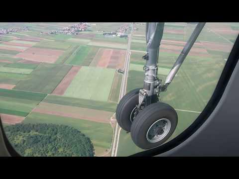 Landing In Maribor In A VLM Fokker 50