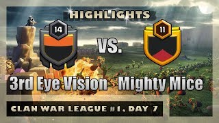 3rd Eye Vision vs. Mighty Mice | League War Highlights | Clash of Clans