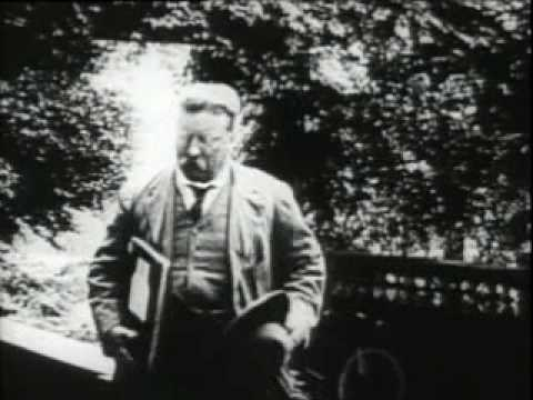 Theodore Roosevelt at his home in Sagamore Hill, Oyster Bay, Long Island, in 1912 - Part 1 of 2