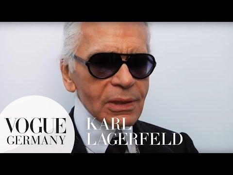 Exklusives Interview mit Karl Lagerfeld bei seiner CHANEL Fashion Show
