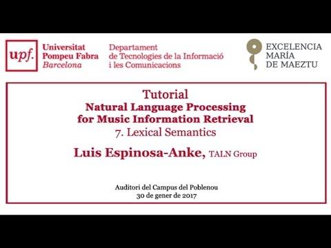 Tutorial - Natural Language Processing for Music Information Retrieval. Lexical Semantics