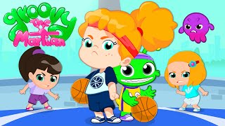 🏀 Groovy The Martian & Phoebe play basketball with the boys | Sports have no gender!
