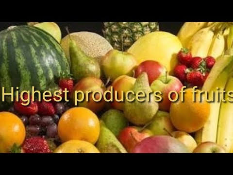 Largest Producers of Horticultural crops-#Fruits video 1(Based on 2016 data of FA0)