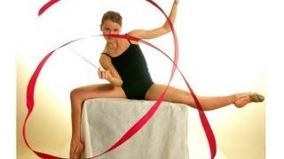 Художественная гимнастика. Упражнение с Ленточкой(Получите в ПОДАРОК 8 видеоуроков здесь: http://www.world-gymnastics.ru/shpagat8/ Полный видеокурс