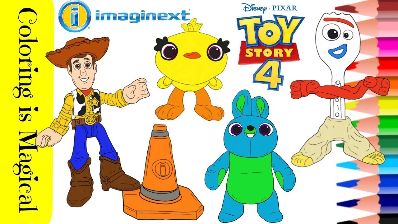 Toy Story 4 Imaginext Toys Coloring Page Woody, Bunny ...