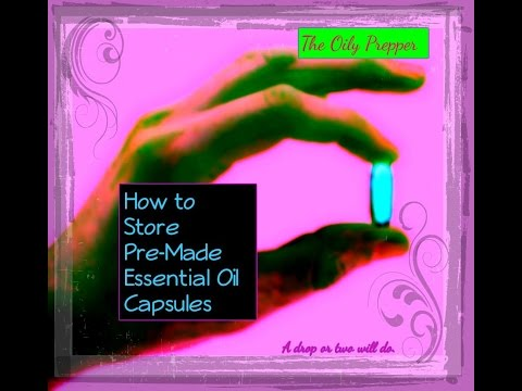 How to Store Pre-Made Essential Oil Capsules