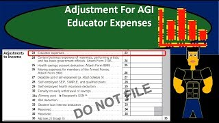 Educator Expenses - Adjustment For Adjusted Gross Income (AGI)