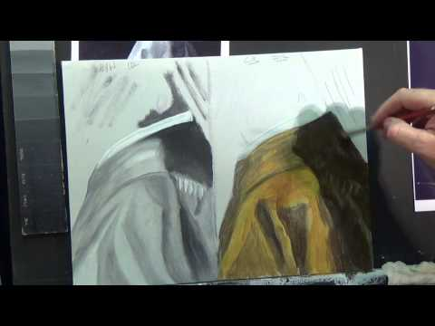 HOW TO PAINT FOLDS IN MATERIAL #2 ,Acrylic painting for beginners, #clive5art