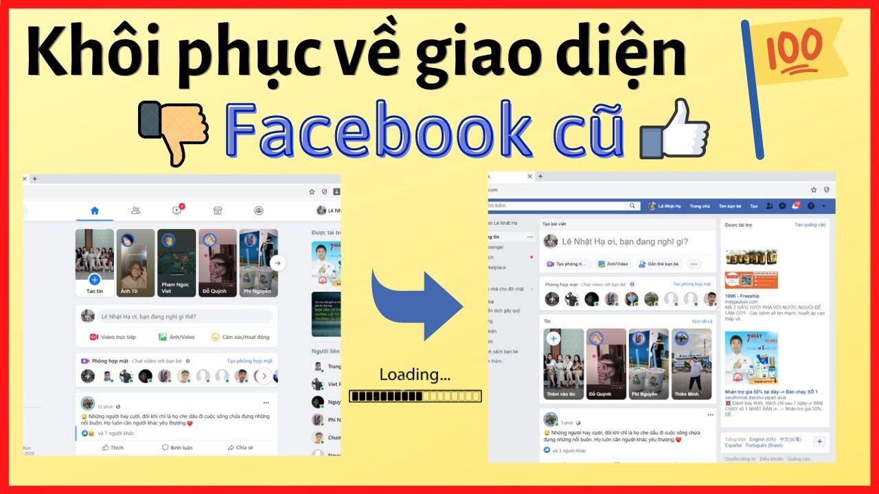 Hướng dẫn cách chuyển sang Giao Diện Facebook Cũ khi mất nút quay lại nhanh nhất