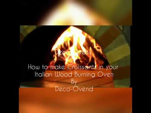 Croissants in Wood Burning Deco-Ovens Pizza Oven