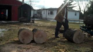 Log splitter Home Made