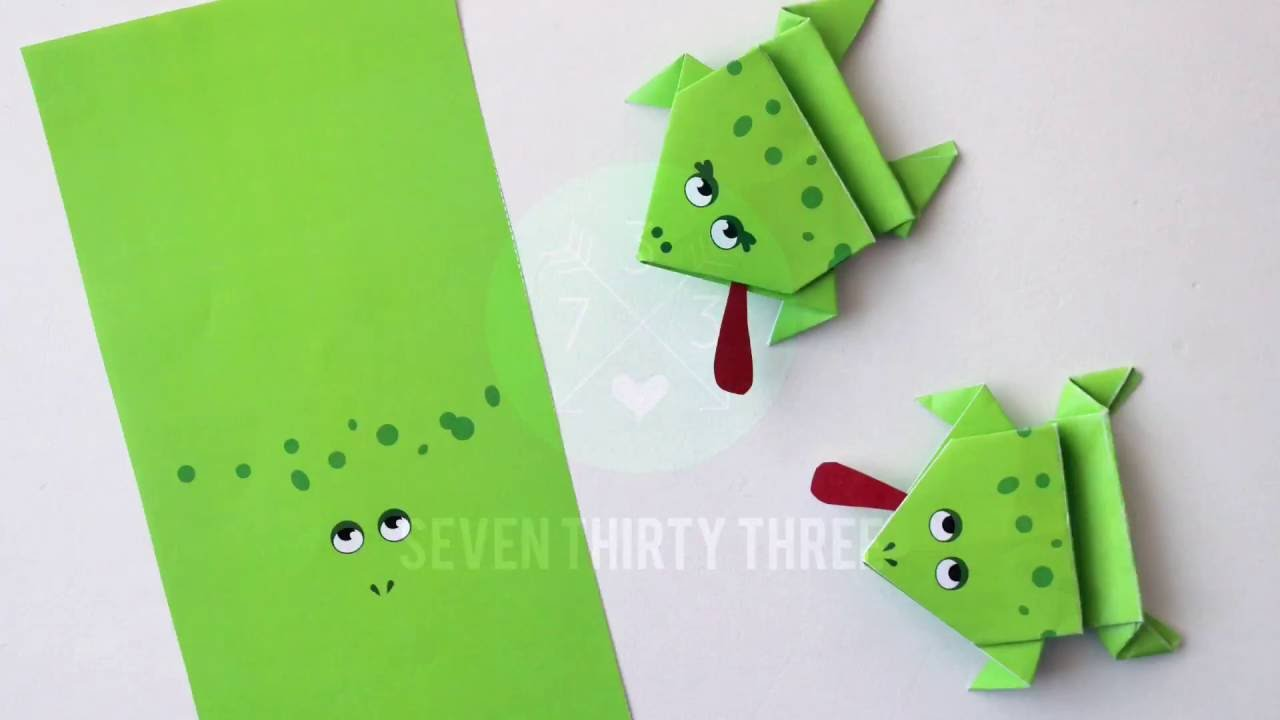 photo about Printable Frogs named Printable Origami Frogs Youngsters Craft